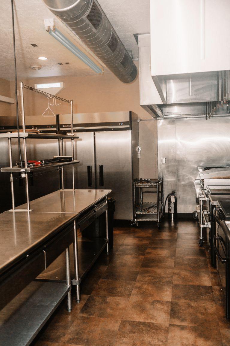 Main Lodge industrial kitchen