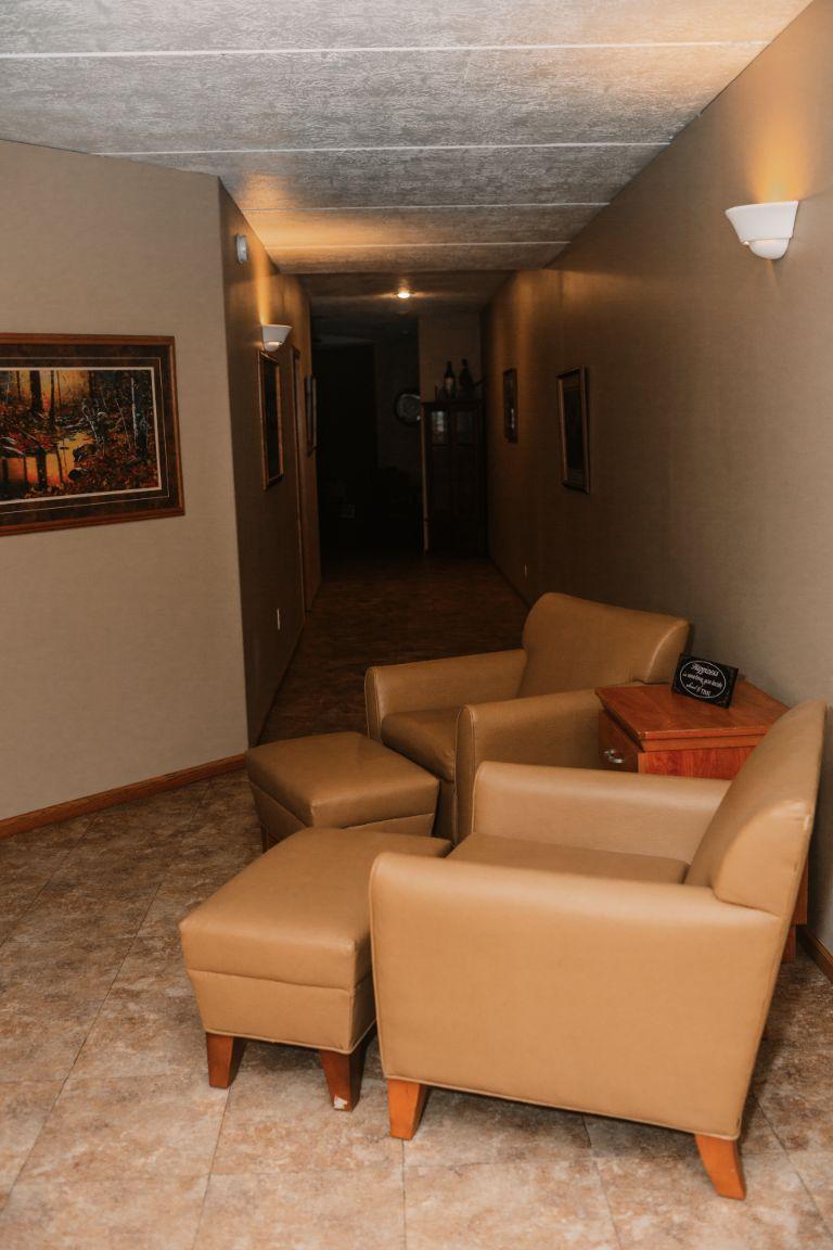 Main lodge lower level hallway