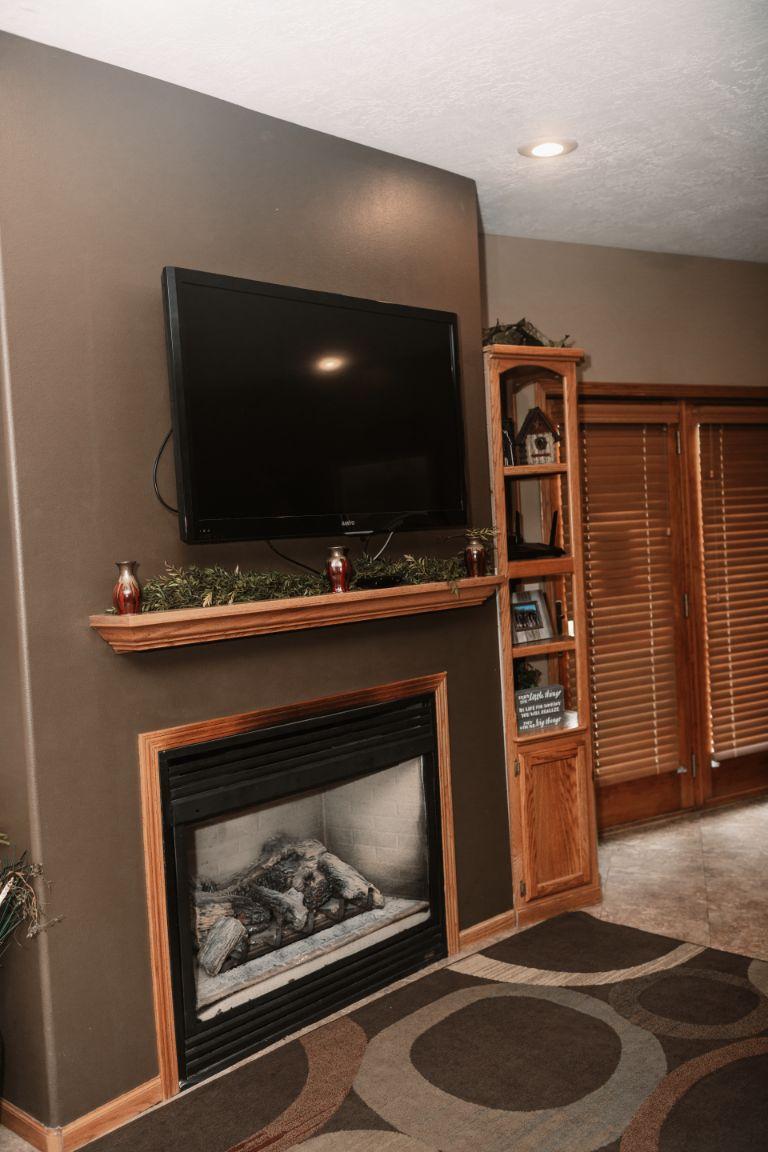 Main Lodge lower level fireplace
